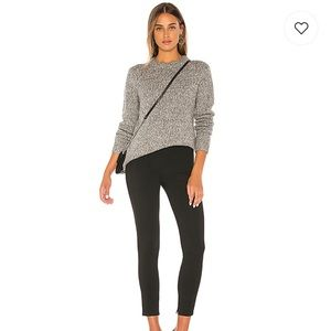 Theory Speckled Crew Sweater in Heathered Gray